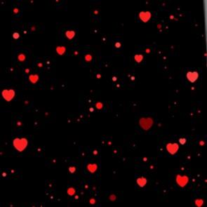 Heart Confetti on Black Neckties