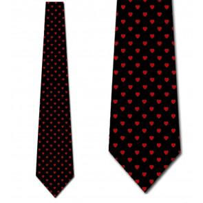 Mini Hearts Allover - Black Necktie