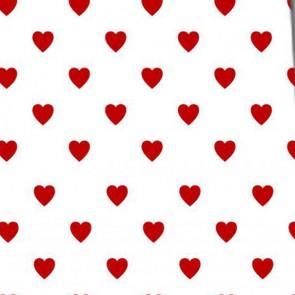 Mini Hearts Allover - White Necktie