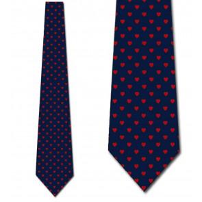 Mini Hearts Allover - Navy Necktie