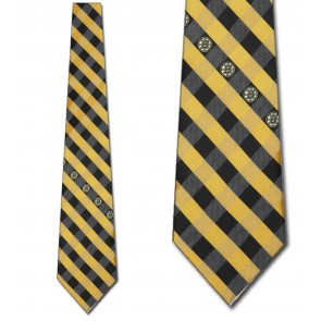 NHL Boston Bruins Woven Check Necktie