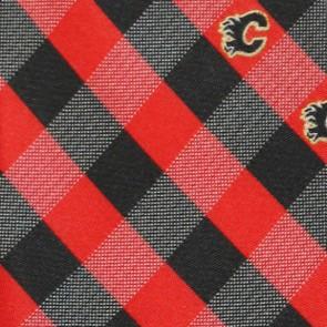 NHL Calgary Flames Woven Check Necktie