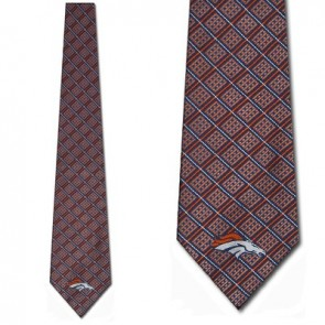 NFL Denver Broncos Woven Chex Necktie