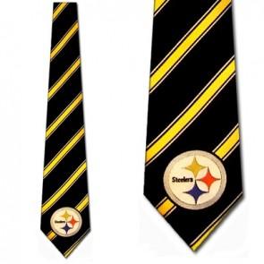 NFL Pittsburgh Steelers Poly Stripe Necktie