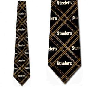 NFL Pittsburgh Steelers Woven Diamond Necktie