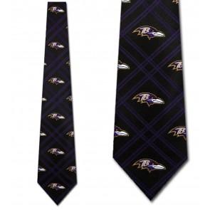 NFL Baltimore Ravens Woven Diamond Necktie