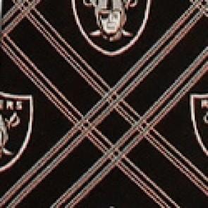 NFL Oakland Raiders Woven Diamond Necktie