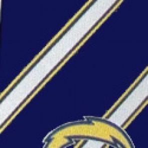 NFL San Diego Chargers Poly Stripe Necktie