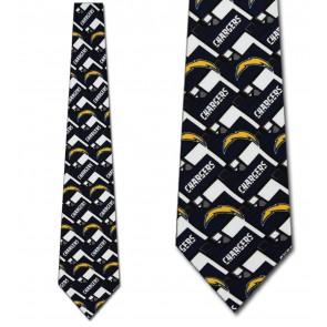 NFL San Diego Chargers Diagonal Necktie
