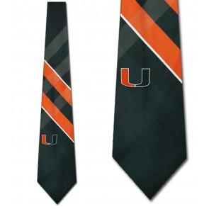 Miami Hurricanes Grid Necktie