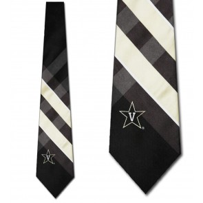 Vanderbilt Commodores Grid Necktie