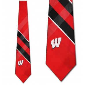 Wisconsin Badgers Grid Necktie