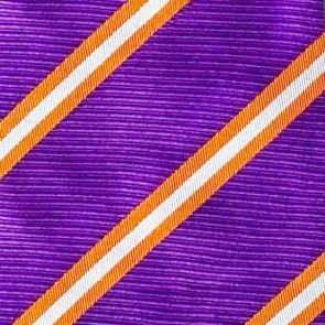 Clemson Tigers College Stripe Two Necktie