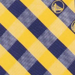 Golden State Warriors Woven Check Necktie