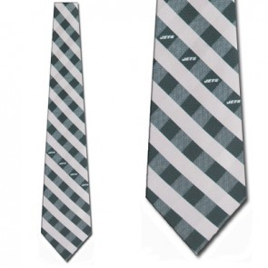 NFL New York Jets Woven Check Necktie