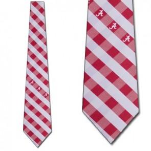 Alabama Crimson Tide Woven Check Necktie
