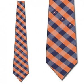 Virginia Cavaliers Woven Check Necktie