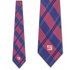 NFL New York Giants Woven Plaid Necktie