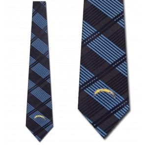 NFL San Diego Chargers Woven Plaid Necktie
