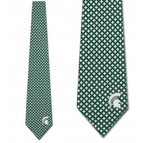 Michigan State Spartans Diamante Necktie