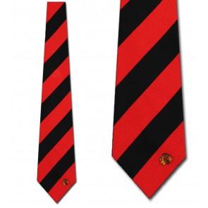 NHL Chicago Blackhawks Regiment Necktie