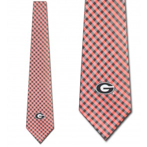 Georgia Bulldogs Gingham Neckties