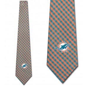NFL - Miami Dolphins Gingham Necktie