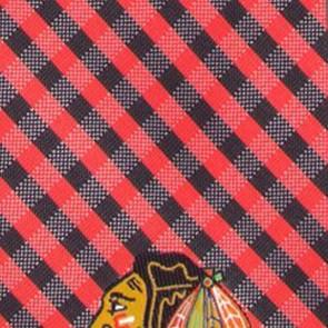 NHL - Chicago Blackhawks Gingham Necktie