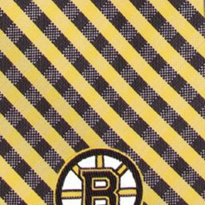 NHL - Boston Bruins Gingham Necktie