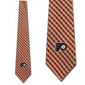 NHL Philadelphia Flyers Gingham Necktie