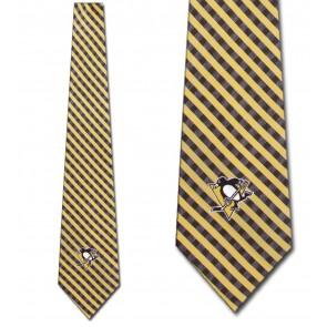 NHL Pittsburgh Penguins Gingham Necktie