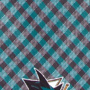 NHL San Jose Sharks Gingham  Necktie