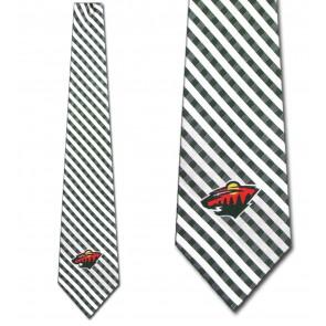 NHL Minnesota Wild Gingham Necktie