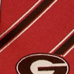 Georgia Bulldogs Poly Stripe Necktie