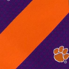 Clemson Tigers Geometric Stripe Necktie