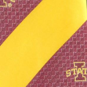 Iowa State Geometric Stripe Necktie
