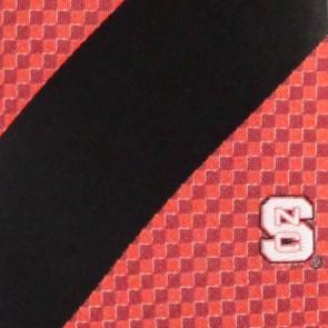 North Carolina State Geometric Stripe Necktie