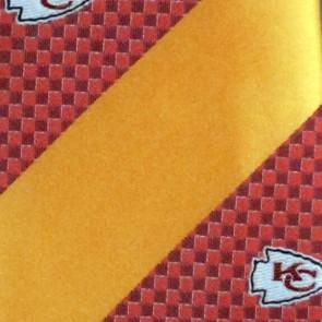 NFL Kansas City Chiefs Geometric Stripe Necktie
