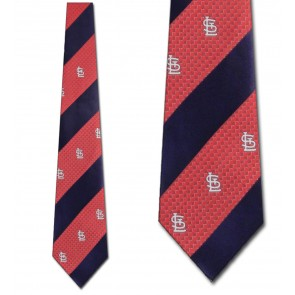 MLB St. Louis Cardinals Geometric Stripe Necktie