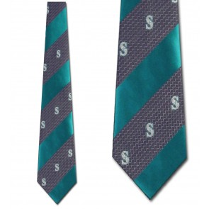 MLB Seattle Mariners Geometric Stripe Necktie