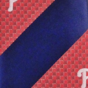 MLB Philadelphia Phillies Geometric Stripe Necktie