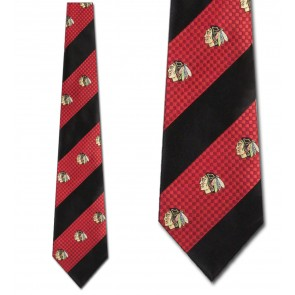 NHL Chicago Blackhawks Geometric Stripe Necktie