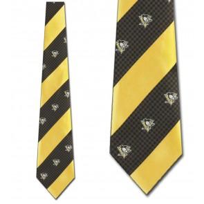 NHL Pittsburgh Penguins Geometric Stripe Necktie