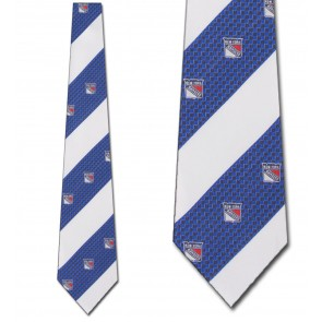 NHL New York Rangers Geometric Stripe Necktie