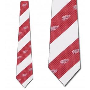 NHL Detroit Red Wings Geometric Stripe Necktie