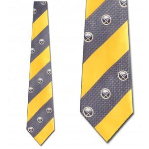 NHL Buffalo Sabres Geometric Stripe Necktie