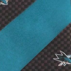 NHL San Jose Sharks Geometric Stripe Necktie