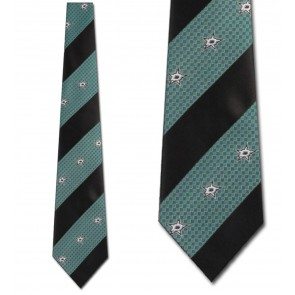 NHL Dallas Stars Geometric Stripe Necktie