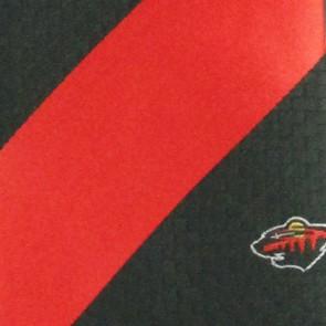NHL Minnesota Wild Geometric Stripe Necktie