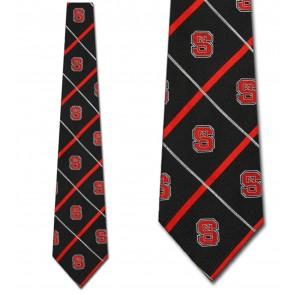NC State Wolfpack Silver Line Necktie